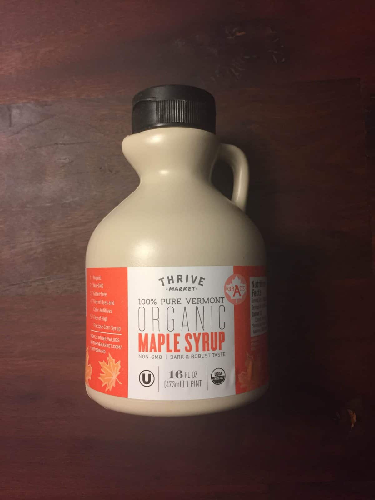 Thrive Market Organic Maple Syrup (Grade A)